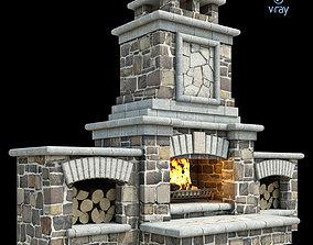 Outdoor Fireplace 012 3D model