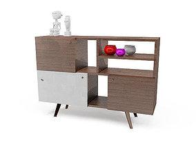 Modern desk table 3D asset