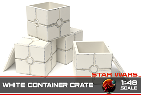 Star Wars white container crate 1-48 3D printable model
