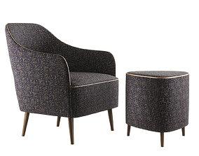 Collinet Scala Ref 1867C armchair and Ref 6141 3D model
