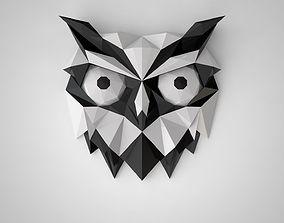 3D print model low poly owl