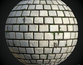 Stone Path Soil Grass Texture Material 3D