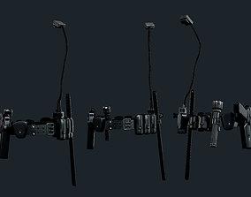 Police Officer Gun Belt Uniform Cop 3D model