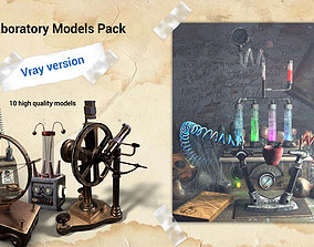 3d 3D Mad Laboratory models pack for Vray