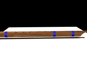 Wooden Flute 3D model