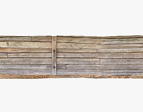Log Wall 3D model