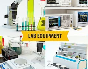 Lab equipment set 2 3D