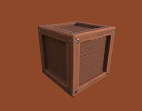GameReady Stylized Wooden Crate 3D asset