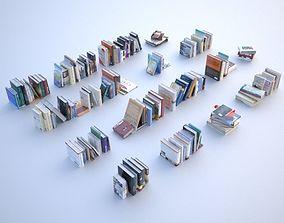 asset 100 unique books 001 3D