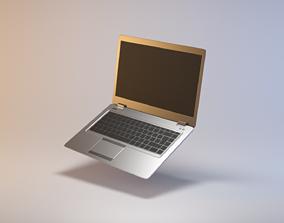 Thin modern laptop notebook 3D model