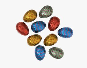 Chocolate eggs candy 3D