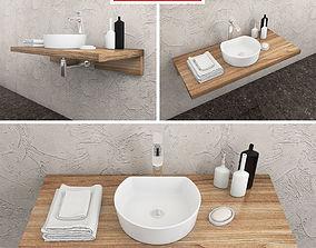 3D model washbasin Ravak Moon 1C