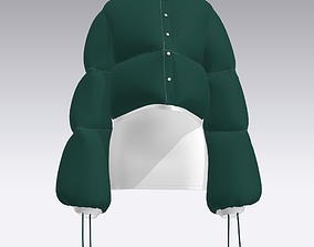 PUFFER JACKET WITH SKIRT 3D