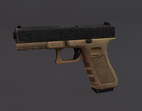 Glock 17 3D asset game-ready