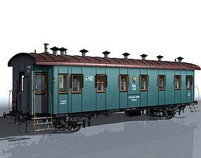 2-axle passenger car 3D model