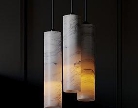 3D model CB2 - VOLAKAS WHITE MARBLE PENDANT LIGHT