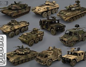 VR / AR ready Army vehicles - 10 3d models Ready for games