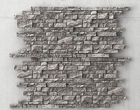 3D model Stone panel decorative title