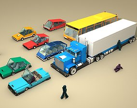CARS and CHARACTERS 3D model