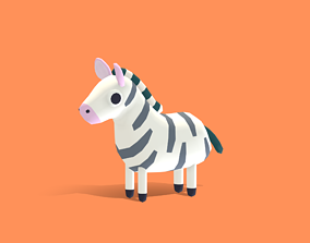Zek the Zebra - Quirky Series 3D model