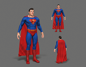 Superman 3D asset realtime