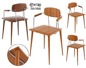 PILGRIM BAR STOOL Chair 3D asset