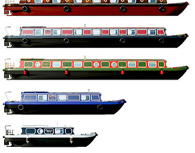 English Canal Boats collection 3D model