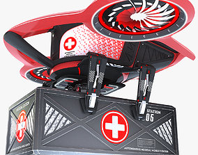 Drone medical to provide ambulance to victims 3D