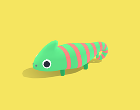 Cameo the Chameleon - Quirky Series 3D model