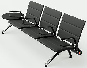 3D model Poltrona Frau Flair Airport Seating System