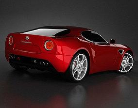 3D Alfa Romeo 8C std mat
