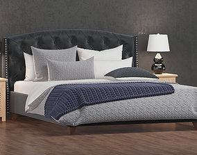 Ashley Tufted Bed 3D