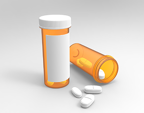 Pills bottle 3D
