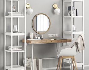 Womens Ikea dressing table and workplace 3D