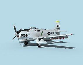 3D Douglas A-1H Skyraider USN Intrepid