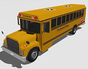 BusSchool 3D asset