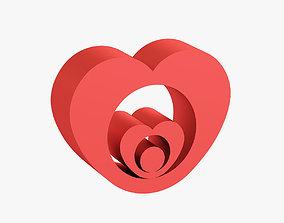 3D print model Heart shaped figurine