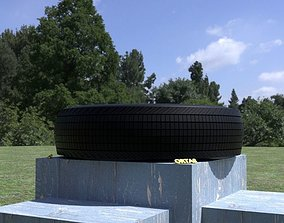 ORTAS TIRE NO 9 GAME READY AND 3D PRINTABLE wheel