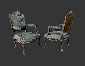 3D asset Wrecked Destroyed Antique Dinning Chair Game