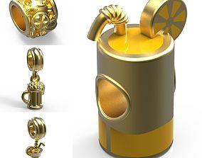 Drinks Set Charms - Set of 4 3D printable model