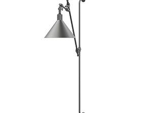 lightbulb Black Wall Lamp 3D Model