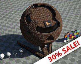 3D asset Brickwork - VRay shader with textures