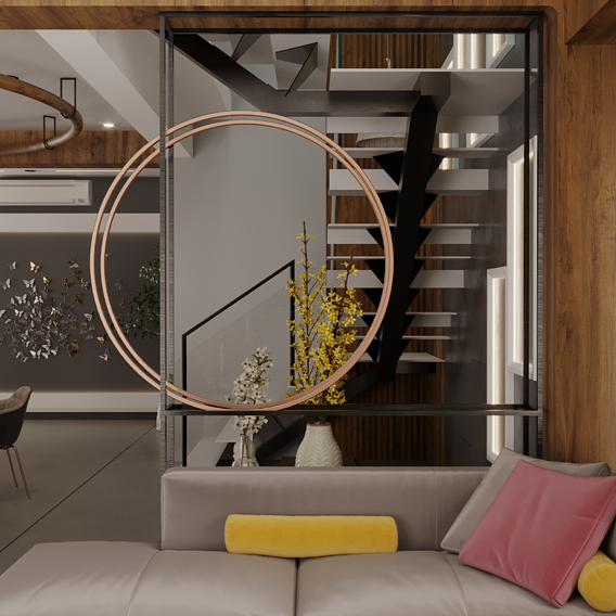 living room interior design scene.