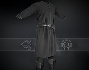 Full Black Medieval Outfit 3D model