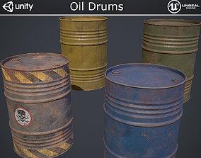 Oil Drums 3D asset