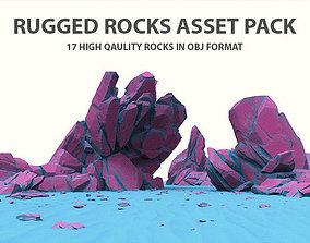 Rugged Rocks Asset Pack 3D