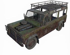 3D model Abandoned jeep 02