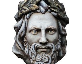 Zeus Head On The Wall 3D model