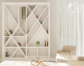 bookcase model 3D office