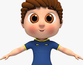 3D model Cartoon Boy - Rigged
